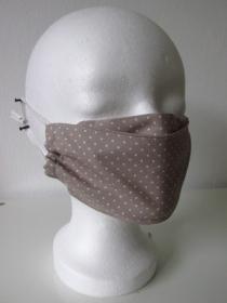 Mund - und Nasenmaske - wiederverwendbar - waschbar - beige - Gesichtsmaske - Alltagsmaske - Handarbeit kaufen
