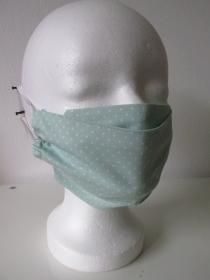 Mund - und Nasenmaske - wiederverwendbar - waschbar - mintfarben - grün - Alltagsmaske - Gesichtsmaske - zero waste - umweltfreundlich - Handarbeit kaufen