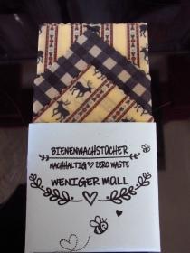 Bienenwachstücher 3-er Set - Muttertag - umweltfreundlich - nachhaltig - wiederverwendbar - Hirsch - im  Labor geprüft - Brotbeutel - Zero Waste - Lunchbag - plastikfrei leben - Handarbeit kaufen