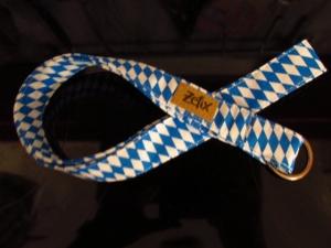 Schlüsselband lang - bayrisch - zefix - Schlüsselanhänger -blau weiß - Handarbeit kaufen