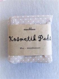 nachhaltige Kosmetikpads  Miniwaschlappen  wiederverwendbare Abschminkpads  zero waste  Make Up Entferner - beige - Handarbeit kaufen