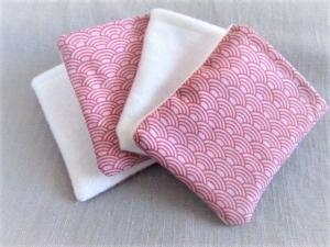 nachhaltige Kosmetikpads  Miniwaschlappen  wiederverwendbare Abschminkpads  zero waste  Make Up Entferner - japanisches Muster - Handarbeit kaufen