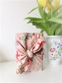 Furoshiki Geschenktücher Geschenkverpackung Zero Waste Ostern Osterverpackung Hasen apricot  in
