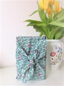 Furoshiki Geschenktücher Geschenkverpackung Zero Waste Ostern Osterverpackung Blätter  in