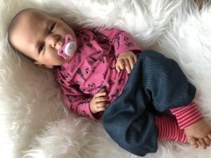 Baby Set Paris Eifelturm Jeans-Jersey