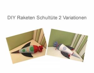 DIY Raketen Schultüte - Schnittmuster - Ebook  - Nähanleitung
