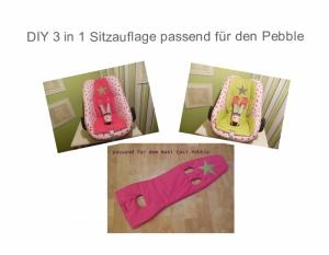 3er Set Babyschalen Sitzauflage - Schnittmuster - Ebook  - Nähanleitung