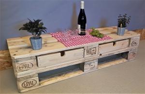 TV Tisch aus Palette Kommode vintage Sideboard industrial Holz Shabby Chic Palettentisch Fernsehtisch Holztisch Palettenmöbel Wohnzimmer