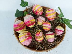 10 kleine behäkelte Ostereier für den Osterstrauß, Handarbeit, Pastellfarben, kaufen