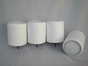 4 gedrechselte weiße Maxi-Teelichthalter für den Adventskranz, aus Holz, für große Teelichter (6cm), kaufen