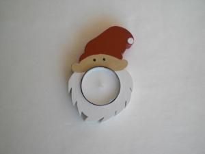 kleiner Teelichthalter als Nikolaus, zur Tischdeko aus Holz kaufen
