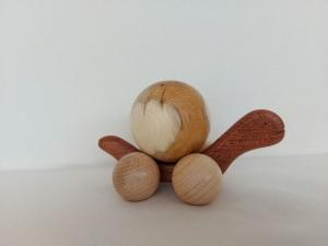 große Schildkröte aus Holz gedrechselt zum Schieben und Kaufen
