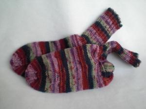 handgestrickte warme bunte Wollsocken in Gr. 28/29  - Handarbeit kaufen