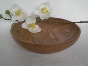 gedrechselte Schale aus Ulmenholz, 18 cm, handgearbeitet kaufen - Handarbeit kaufen