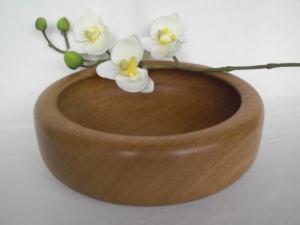 gedrechselte Holzschale, Eiche, 20 cm, handgearbeitet, kaufen - Handarbeit kaufen