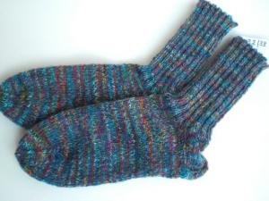 bunte handgestrickte warme Socken in Gr. 32/33 kaufen - Handarbeit kaufen