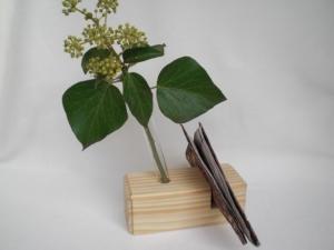 Kleine Tischdeko: Vase, Serviettenhalter aus Holz, ohne Blumen und ohne Servietten, kaufen - Handarbeit kaufen