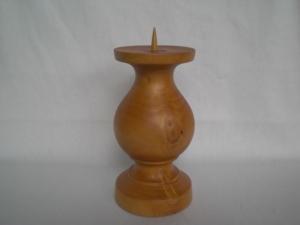 Kerzenständer gedrechselt aus Zedernholz, 18 cm, kaufen - Handarbeit kaufen