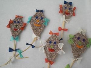 kleine Deko-Drachen zur herbstlichen Dekoration, im 5er Set kaufen  - Handarbeit kaufen