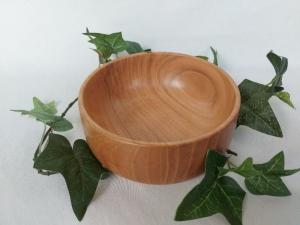 gedrechselte Schale aus Kirschbaum, 13 cm, handgearbeitet kaufen - Handarbeit kaufen