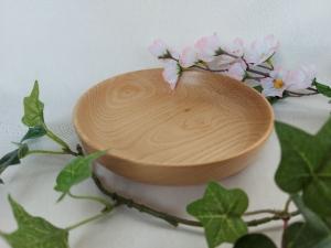 gedrechselte kleine flache Schale aus Kirschbaumholz, 15 cm, handgearbeitet kaufen  - Handarbeit kaufen