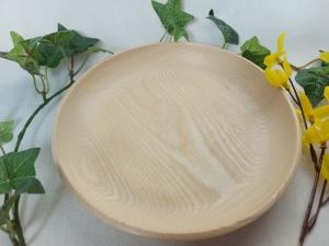 gedrechselte kleine flache Schale aus dem Holz der Esche, 18 cm, handgearbeitet kaufen  - Handarbeit kaufen