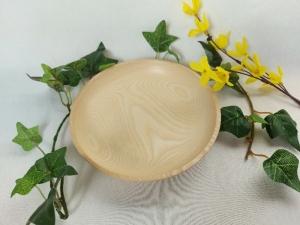 gedrechselte kleine flache Schale aus dem Holz der Esche, 16 cm, handgearbeitet kaufen   - Handarbeit kaufen
