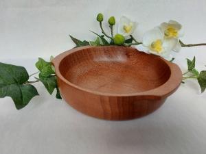 gedrechselte Schale aus Mahagoni, 16 cm, Upcyclingprodukt, handgearbeitet kaufen   - Handarbeit kaufen