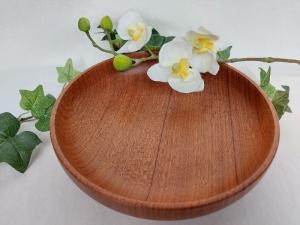 gedrechselte Schale aus Mahagoni, 19 cm, Upcyclingprodukt, handgearbeitet kaufen  - Handarbeit kaufen