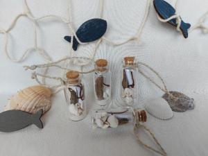4er Set Geschenkanhänger maritim als Mini-Flaschenpost, 6 cm, kaufen   - Handarbeit kaufen