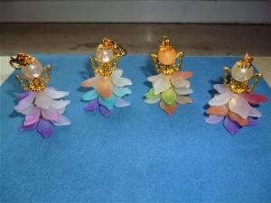 4 Stück Blüten-Feen, Blumendeko, Gastgeschenk/Mitgebsel, Geschenkanhänger, Setzkasten, Floristik - Handarbeit kaufen