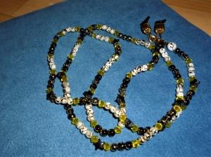 Handgefädelte Brillenkette *Sternenglitzer*  - Geschenkidee zum Muttertag - - Handarbeit kaufen