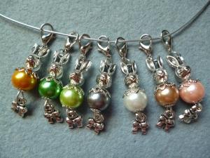 7 Stück Perlen-Osterhasen als Gastgeschenk/Mitgebsel, Kindergeburtstag, Ostergeschenk für Mädchen, - Handarbeit kaufen