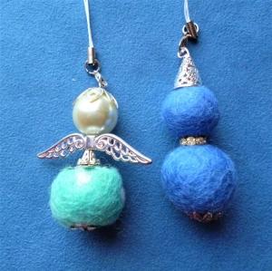 Handgefertigter   Schlüsselanhänger/Taschenbaumler   *Engel und Wichtel im Set*  - Geschenk für Mädchen und Frauen - - Handarbeit kaufen