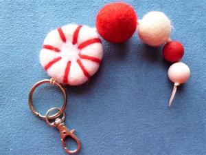 *Schlüsselanhänger* Taschenbaumler*  *Peppermint *handgefertigt*  - Geschenkidee für Mädchen und Jungen -  - Handarbeit kaufen