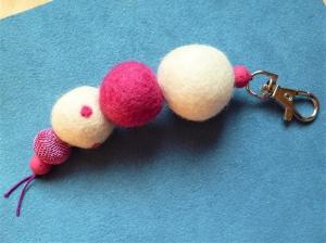 * Taschenanhänger* Pinky* handgefertigt*  - Geschenk für Mädchen - - Handarbeit kaufen