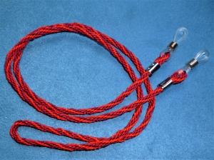Handgeflochtenes Brillenband  aus Schmuckkordel in weinrot/rot - Geschenk für Frauen und Männer -