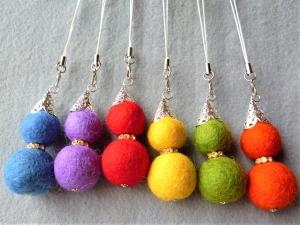 6 Stück  Filzwichtel in Regenbogenfarben, Gastgeschenk/Mitgebsel, Kindergeburtstag, Wichtelgeschenk, Taschenbaumler - Handarbeit kaufen