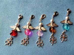 5 Stück  Perlenengel, Glücksbringer, Gastgeschenk/Mitgebsel, Geschenkanhänger, Einladungskarten - Handarbeit kaufen