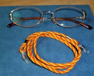 Handgeflochtenes Brillenband  aus Schmuckkordel *Sunshine* für Sonnenbrillen, Lesebrillen, kabellose Kopfhörer - Handarbeit kaufen