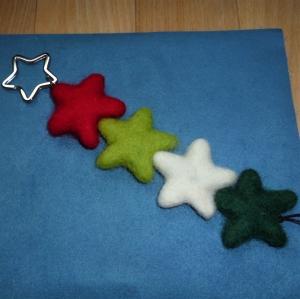 Schlüsselanhänger aus Filz *Sternenzauber* - Geschenk für Frauen und Männer - Handarbeit kaufen