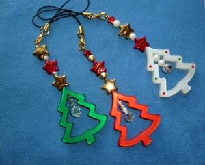 Weihnachtliche Geschenkanhänger - 3er Set - Tannenbäumchen - - Handarbeit kaufen