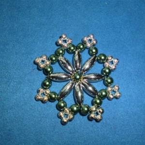 Weihnachtsstern aus Perlen  - Schöner Christbaumschmuck - Geschenkanhänger  (Kopie id: 100253843) - Handarbeit kaufen
