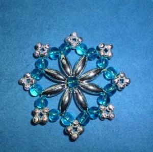 Weihnachtsstern aus Perlen  - Schöner Christbaumschmuck - Geschenkanhänger   (Kopie id: 100253849) - Handarbeit kaufen