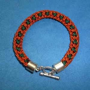 Handgeflochtenes Armband nach der japanischen Flechtkunst Kumihimo aus Satinkordel - Geschenk für Mädchen, Frauen und Mäner - (Kopie id: 100254093) - Handarbeit kaufen