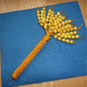 Lustiger Kugelschreiber mit Perlenfächer - Geschenk für Mädchen und Jungen   - Handarbeit kaufen