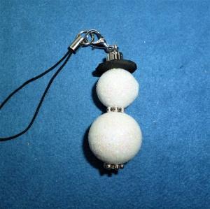 Handgefertigter weihnachtlicher Geschenkanhänger  *Glitzer-Schneemann*  - Handarbeit kaufen