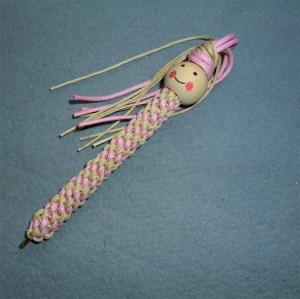 Lustiger Kugelschreiber mit Holzperle - Geschenk für Mädchen - - Handarbeit kaufen