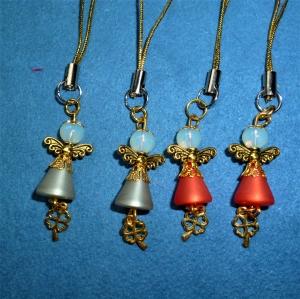 Handgefertigte Mini-Engel als Geschenkanhänger im 4er Set  - Handarbeit kaufen