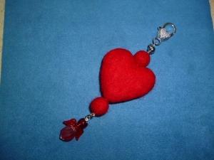 Taschenanhänger  *Valentinstag*  -  Geschenkidee für Frauen  - Handarbeit kaufen